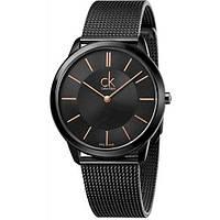 Наручные женские часы Calvin KleinBlackклассические Годинниккельвин кляйнна руку Кварцевые 100% КАЧЕСТВО!