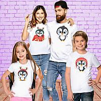 """Футболки Push IT Фэмили Лук Family Look для всей семьи """"Пингвинчики: Новый Год"""""""
