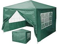 Садова палатка 3х3м 4 стінки з вікнами і двері Шатер палатка садовая Павильон садовый Тент Шатер Палатки НОВІ