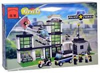 Конструктор brick 110 полицейский штаб 431 деталей