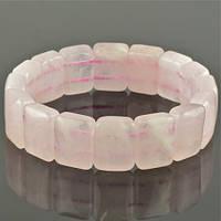 Браслет камень Розовый кварц