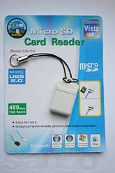Картрідер USB2.0 = microSD пластиковий Sertec CR-114