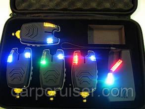 Набір сигналізаторів покльовки CarpCruiser CC210-4 (4+1) з бездротовим радіо пейджером продаж в Україні