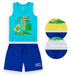 Детский костюм для мальчика:  майка+шорты,  кулир, KS-21-4-3, GABBI (размер р.74)
