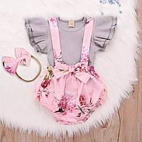 Комплект детский для девочки xLOVEx Стильная Одежда для Новорождённых Детская Одежда