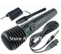 Беспроводной радиомикрофон для караоке FM-передатчик + приемник