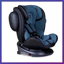Детское автокресло от рождения до 12 лет, группа 0+/1/2/3 (0-36 кг) Bertoni AVIATOR с системой Isofix синее