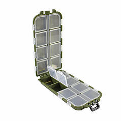 Органайзер для риболовних снастей LEO 26109 Green 13 відсіків ящик літньої риболовлі
