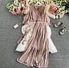 Женский костюм, топ с широкими брюками,Ткань - Супер Софт, нарядный(42-46)