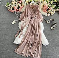 Женский костюм, топ с широкими брюками,Ткань - Супер Софт, нарядный(42-46), фото 1