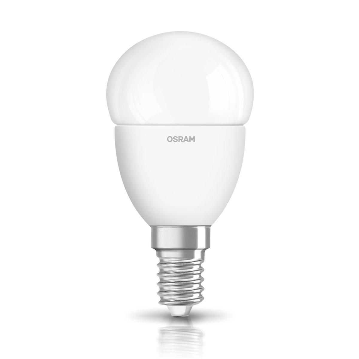 Лампа светодиодная OSRAM S CL P25 4W/840 220-240V FR  E14 шар матовый