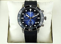 Кварцевые часы Tissot Seastar AAA мужские наручные с хронографом на каучуковом ремешке и календарем