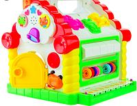 Детский развивающий центр музыкальный и многофункциональный домик-сортер A-Toys KI-7047 игрушка для малышей