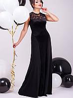 Черное вечернее платье в пол | Аманда lzn