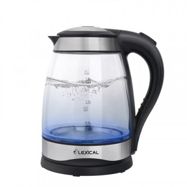 Электрический кухонный чайник Lexical LEK-1406 стеклянный объемом 1.8 литра