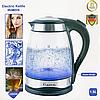 Электрический кухонный чайник Lexical LEK-1406 стеклянный объемом 1.8 литра, фото 2