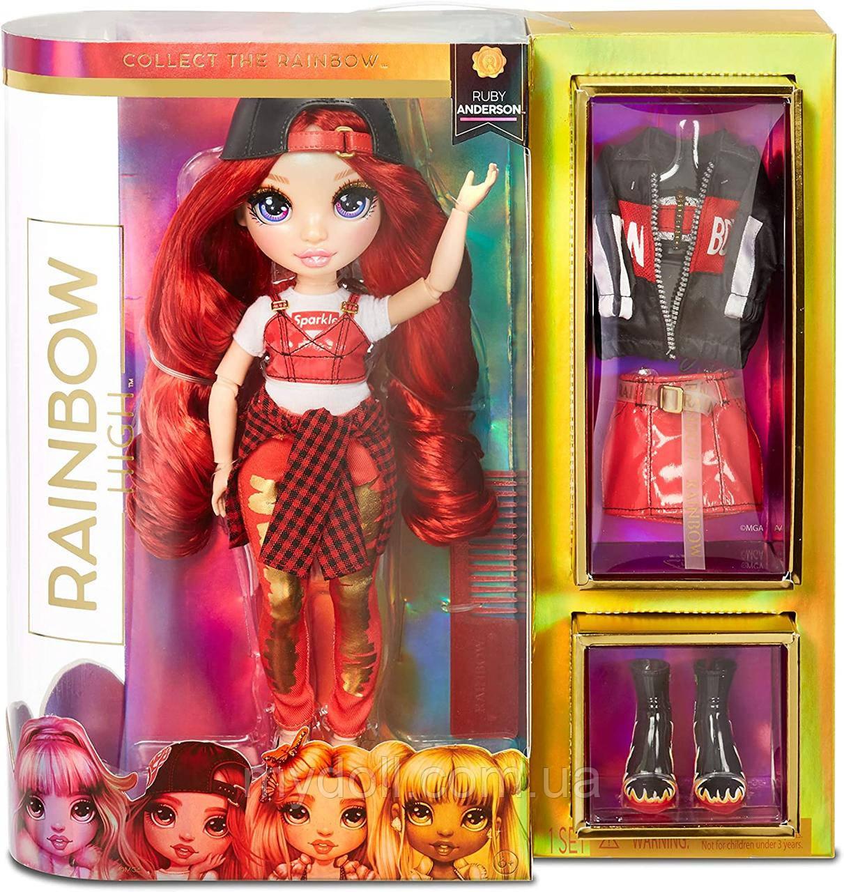 Уцінка! Лялька Rainbow High Рубі Ruby Anderson Red Clothes - Червона Мосту Хай Рубі Андерсон 569619 Оригінал
