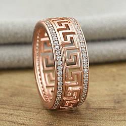 Кольцо Xuping 30912 белые фианиты позолота РО размер 20
