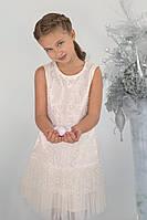 Нарядное платье для девочки с гипюром, фото 1