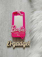 Чехол 3D для iPhone 8 Барби Barbie розовый