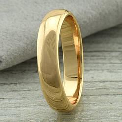 Кольцо обручальное Xuping 11390 ширина 5 мм позолота 18К размер 15