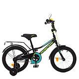 Дитячий велосипед PROF1 16д. Y16224 Prime чорний матовий, фото 5