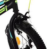 Дитячий велосипед PROF1 16д. Y16224 Prime чорний матовий, фото 8