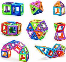 Магнітний конструктор геометричні фігури, 40 деталей, Haiyuanquan