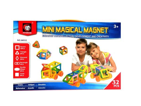 Магнитный Детский Конструктор QUNXING , 32 детали (M032)