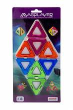 Магнітний конструктор трикутники, 8 шт, MagPlayer