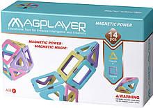 Магнітний конструктор трикутники, квадрати, 14 шт, MagPlayer