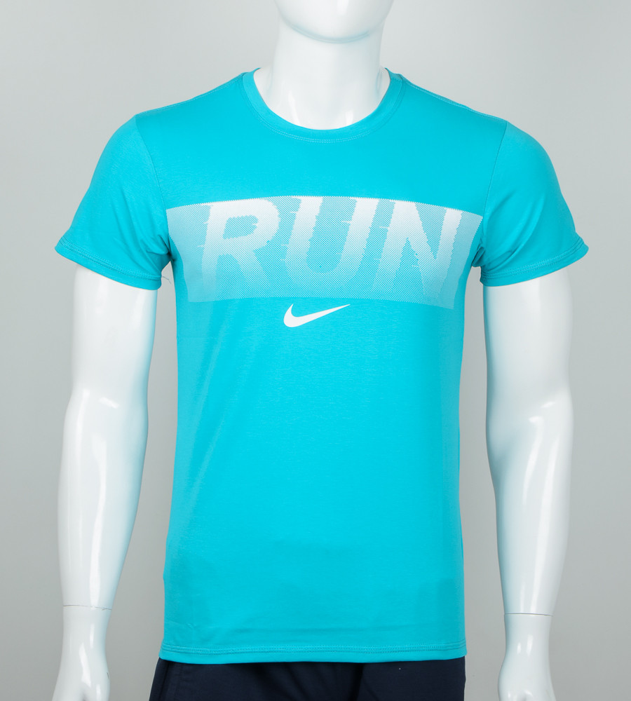 -Р- Футболка мужская Run Бирюзовый (2042м), M