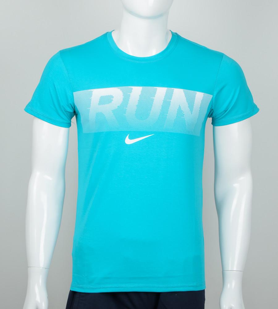 -Р - Футболка чоловіча Run Бірюзовий (2042м), M