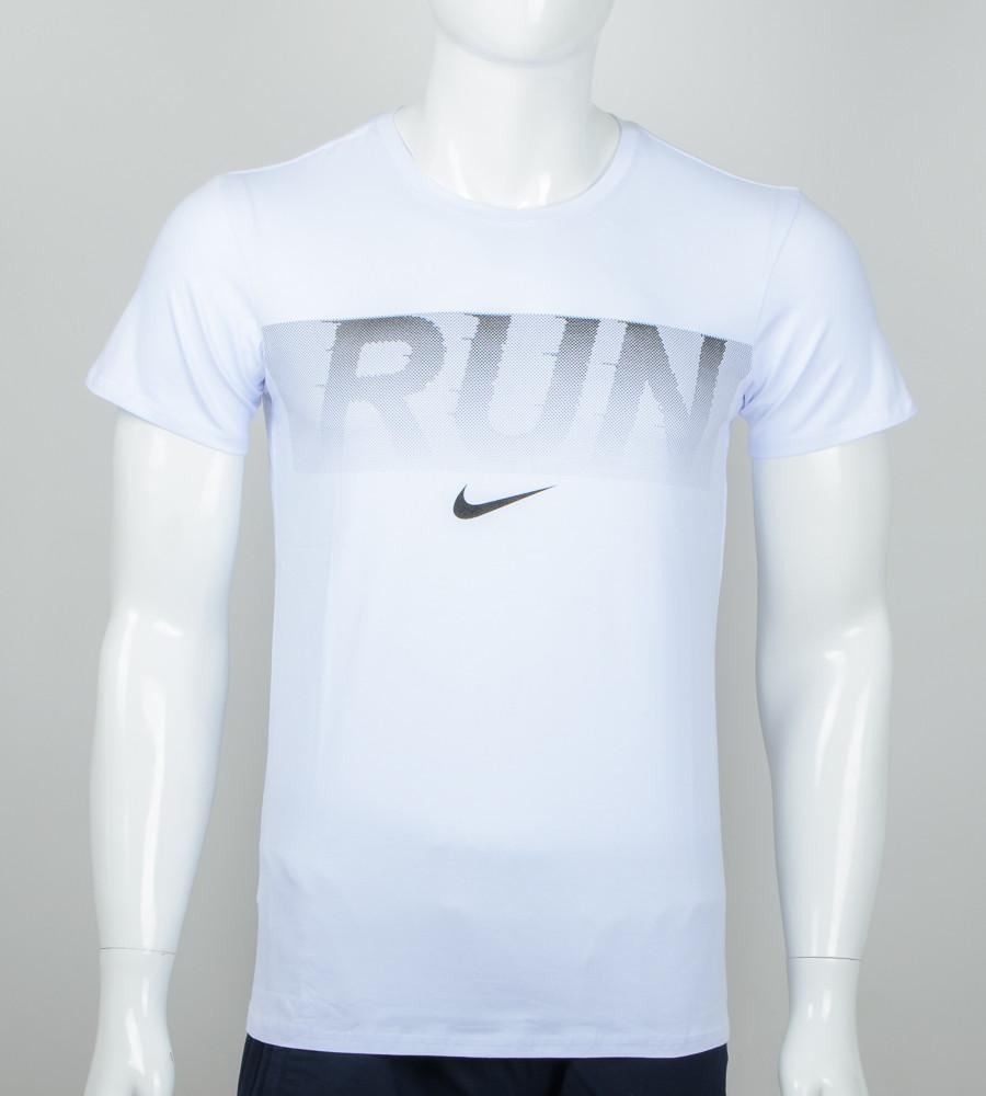 -Р- Футболка мужская Run Белый (2042м), M