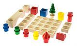Дитячий дерев'яний конструктор, 44 ел, nic cubio, фото 4