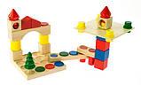 Дитячий дерев'яний конструктор, 44 ел, nic cubio, фото 5