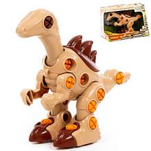 Детский конструктор с отверткой динозавр Велоцираптор, 36 элементов, Полесье