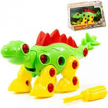 Конструктор динозавр с отверткой Стегозавр, 30 элементов, Полесье