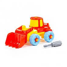 Конструктор с отверткой Трактор, 20 элементов, Полесье