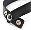 Кожаный ошейник   чокер с кольцом и двумя шипами   черный, фото 2