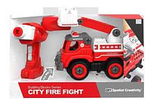Конструктор с отверткой и шуруповертом, Пожарная машина, LM8034-DZ-1