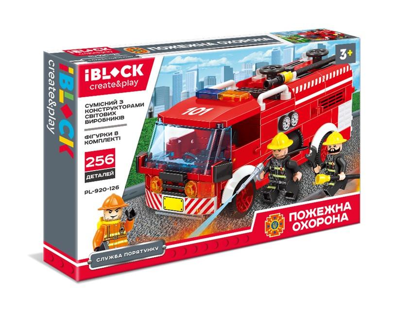 Конструктор пожарная машина, ДСНС Украины, 256 деталей, IBLOCK PL-920-126