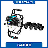 Мотобур Sadko AG-52N (шнек одинарный 200мм) + масло Venol 2T до бензини 1л!