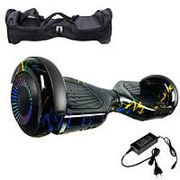 Гироскутер Гироборд 6,5 дюймов молния цветная Smart Balance Гіроскутер автобаланс