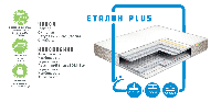 Ортопедичний матрац Еталон plus/ Еталон плюс пружинний ( залежна пружина - бонель)