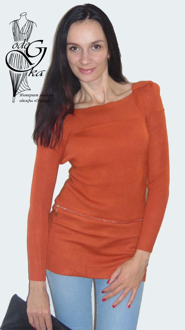 Фото Женского свитера-туники со стильными рукавами Александра SvAlR02