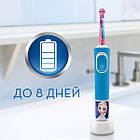 Електрична зубна щітка Braun ORAL-B 3+ D100.413.2KX Frozen II 3710, фото 5