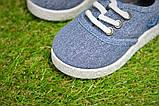Детские кеды мокасины джинсовые на мальчика синие р22-29, фото 4