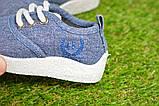 Детские кеды мокасины джинсовые на мальчика синие р22-29, фото 8
