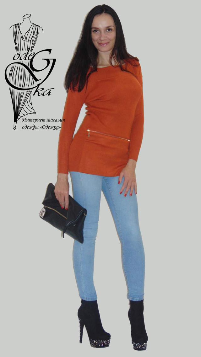 Фото-1 Женского свитера-туники со стильными рукавами Александра SvAlR02